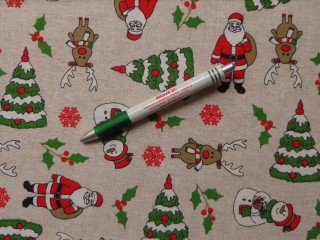 Loneta, karácsonyi vászon, mikulásos-hóemberes (9289)
