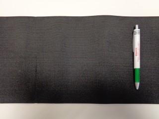 Egészségügyi gumi, fekete, 20 cm széles (9298)