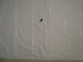 Fehér alapon ekrü-fehér csíkos voile függöny, 300 cm magas (9308)