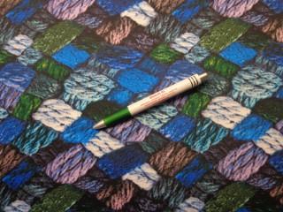 Őszi jersey, fonott mintás, kék (9339)