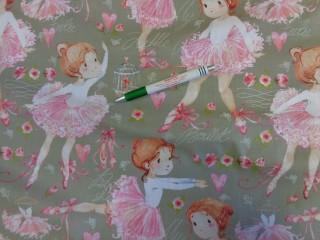 Gyerekmintás karton, szürke alapon balerinás (9382)