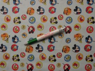 Disney mintás pamutvászon, kék alapon Mickey és barátai (9389)