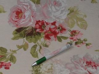 Loneta, ekrü alapon nagy rózsás kerti bútor vászon (9390)