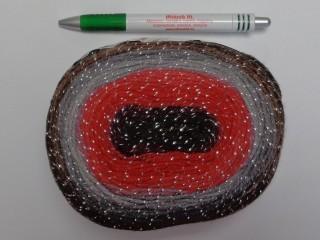 Papatya Cake Silver fonal, barna-szürke-piros (9406-313)