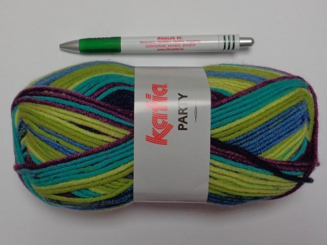 Katia Party fonal, sárga-zöld-kék-lila (9410-53)