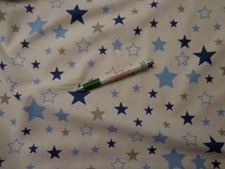 Gyerekmintás karton, csillagos, kék-szürke (9454)