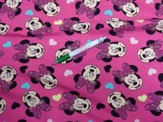 Sztreccs futter, pink alapon Minnie-s  (9465)