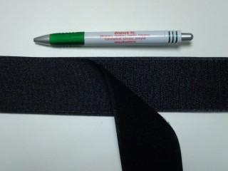 Varrható tépőzár párban, 5 cm széles, fekete (9484)