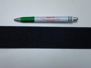 Varrható tépőzár, csak a dörzsi fele, 5 cm széles, fekete (9483)