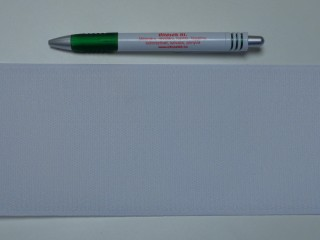 Varrható tépőzár, csak a dörzsi fele, 10 cm széles, fehér (9486)