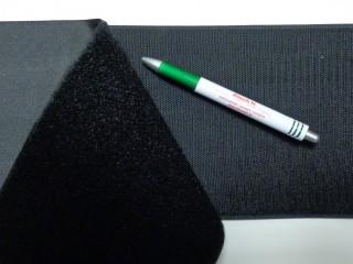 Varrható tépőzár párban, 15 cm széles, fekete (9491)
