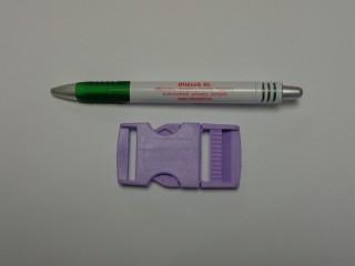 Műanyag TUK csat, 30 mm széles, lila (9494)