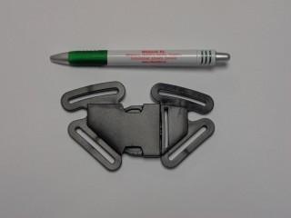 Műanyag TUK csat, biztonsági, 40 mm széles, fekete (9498)