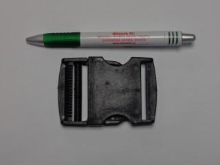 Műanyag TUK csat, 50 mm széles, fekete (9497)