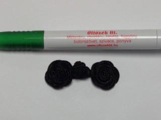 Paszomány gomboló, rózsás, fekete (9505)