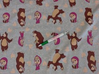 Sztreccs futter, Mása és a medve mintával (9516)