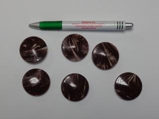 Sötét barna kabát gomb, átmérő 38 mm (9522)