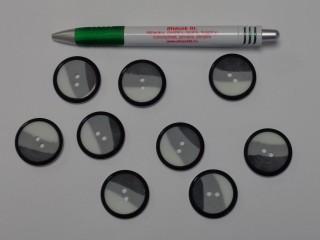 Fehér-szürke blézer gomb, átmérő 30 mm (9523)