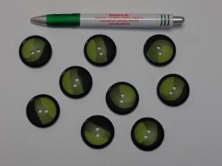 Zöld színátmenetes blézer gomb, átmérő 30 mm (9524)