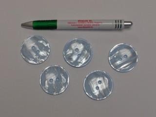 Világoskék kabát gomb, átmérő 38 mm (9528)