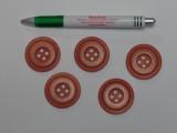 Barna kabát gomb, átmérő 38 mm (9531)