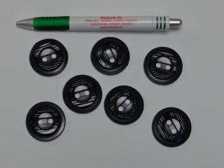 Fekete kabát gomb, átmérő 34 mm (9536)