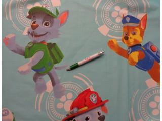 Gyerekmintás vászon, nagy Mancs őrjárat mesefigurákkal, 220 cm széles (9542)
