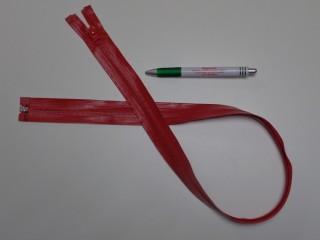 80 cm-es vízálló cipzár, piros (9551)