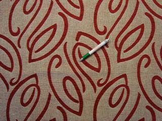 Drapp alapon bordó magában mintás bútorszövet (9583)