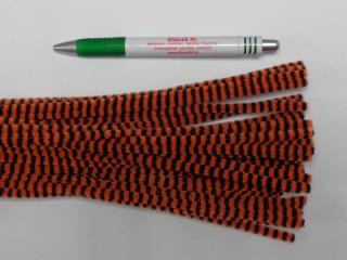 Zsenília drót, narancs-fekete csíkos (9601)