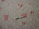 Loneta, bögrés-pöttyös, kerti bútor vászon (9609)
