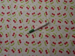 Gyerekmintás vászon, cseresznyés (9612)