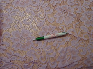 Rugalmas csipke, világos lila (9616)