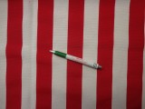 Loneta, piros-fehér csíkos, kerti bútor vászon (9688)
