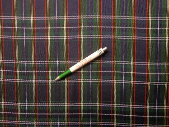 Skót kockás szövet, kék-zöld (9693)