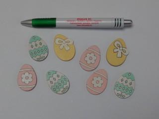 Fa tojás, színes, öntapis (9732)