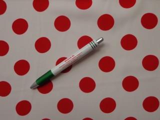 Nehézselyem, fehér alapon piros nagy pöttyös (9761)