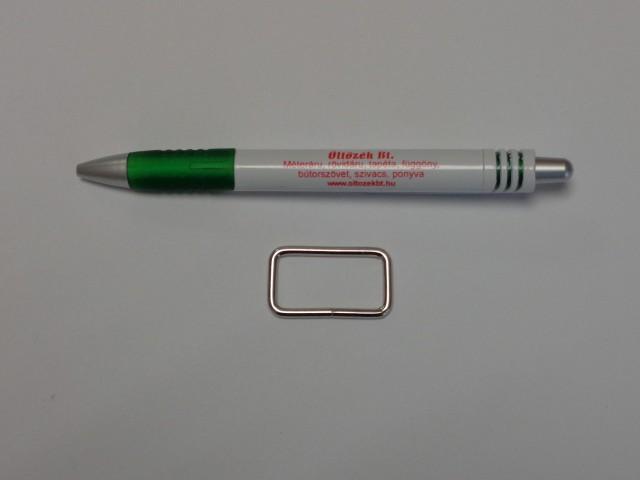 Téglalap fém kellék, 30 mm-es (9767)