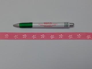 Melltartó gumi, rózsaszín virágos, 16 mm széles (9768)