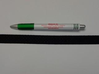 Melltartó gumi, fekete pöttyös, 18 mm széles (9771)