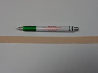 Melltartó gumi, bézs, 17 mm széles (9773)