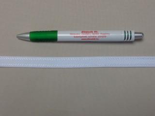 Melltartó gumi, fehér ,13 mm széles (9776)