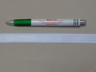 Melltartó gumi, fehér ,17 mm széles (9777)