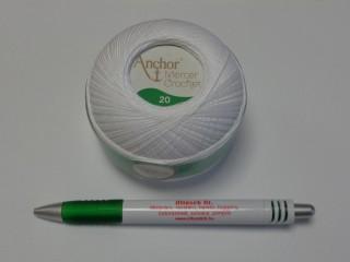 Anchor 20-as horgolócérna, fehér, 5 dkg (9781)