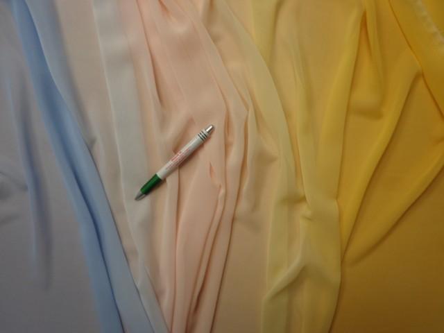 Színátmenetes muszlin, sárga-barack-kék (9797)