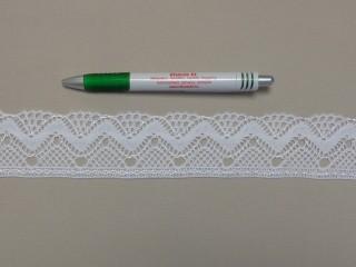 Pamut csipke, fehér, 45 mm széles (9848)