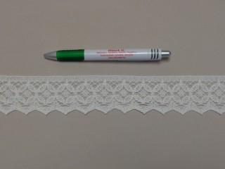 Pamut csipke, törtfehér, 45 mm széles (9849)