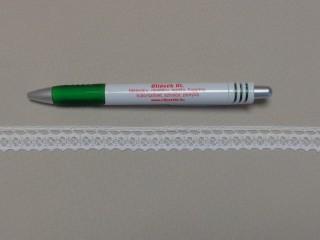 Pamut csipke, törtfehér, 14 mm széles (9850)