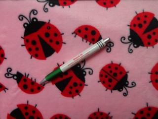 Babysoft, rózsaszín alapon, katicás (9873)