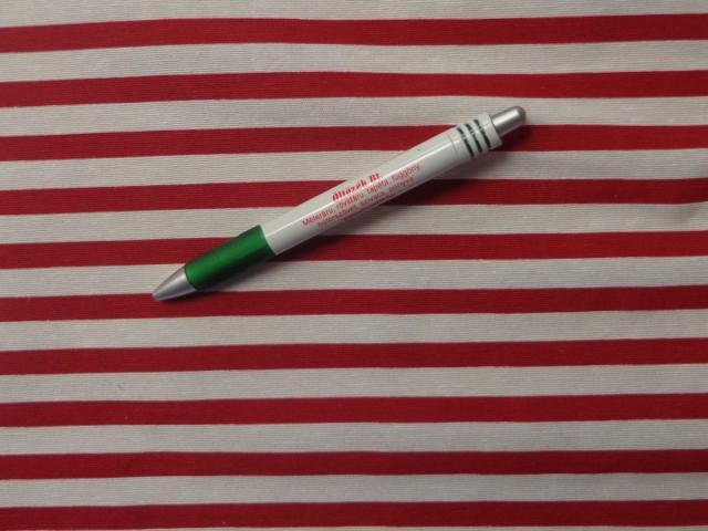 Loneta kerti bútor vászon, piros-fehér csíkos (9918)